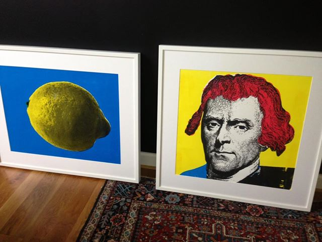 Two Framed Silkscreen Prints
