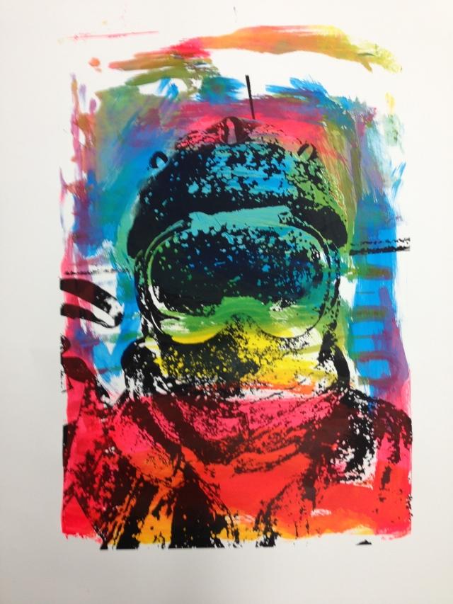 Silkscreen and brush painting  36x48