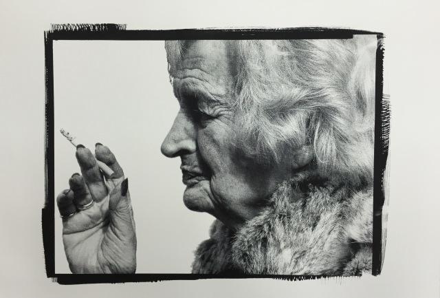 black ink Silkscreen print
